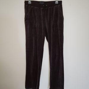 3/25$ Tommy Hilfiger black velvet lounge pants